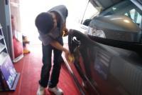 钛金灰沃尔沃S80L镀膜+半年保养作业,欧卡改装网,汽车改装