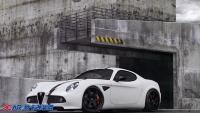阿尔法罗密欧8C改装图赏白衣黑毂鲜明对比,欧卡改装网,汽车改装