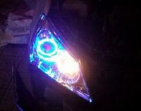 提升大灯效果   现代悦动改双光透镜,欧卡改装网,汽车改装