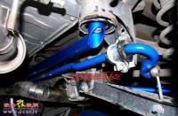 斯巴鲁加装CUSCO车身底盘强化套件,欧卡改装网,汽车改装