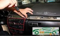 马自达3保留CD无损升级8寸导航,欧卡改装网,汽车改装