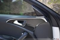 奥迪新A6改装碳纤维内饰面板,欧卡改装网