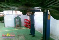 一汽威志更换漏油的右后避震器,欧卡改装网,汽车改装