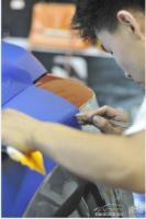 长城M2骚橙改色全车珠光蓝,欧卡改装网,汽车改装