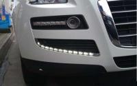 纳智捷大7台湾改装的日行车灯及光圈HID雾灯,欧卡改装网,汽车改装
