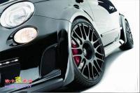 小车也凶猛 引擎265匹黑色菲亚特500,欧卡改装网,汽车改装