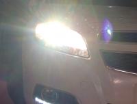 雪佛兰迈锐宝炫酷大灯改装海拉五双光透镜,欧卡改装网,汽车改装