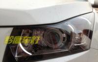科鲁兹改装双光透镜,外加白色天使眼,欧卡改装网,汽车改装