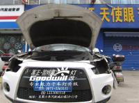 进口三菱欧蓝德升级独立远光,欧卡改装网,汽车改装