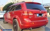道奇酷威改装轮胎和双排气系统,欧卡改装网,汽车改装