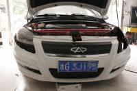 奇瑞A3改海拉3双光透镜 + 泪眼,欧卡改装网,汽车改装