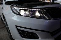 【星光车灯改装升级】K5改装Q5双光透镜,欧卡改装网