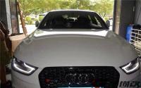 奥迪A4L改装,RS4中网,雾灯罩,自动折叠后视镜,欧卡改装网,汽车改装