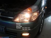 日产御轩Q5透镜LED天使眼,欧卡改装网,汽车改装