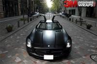 奔驰轿车3M1080 S12陶瓷黑改色案例,欧卡改装网