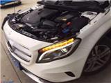 芜湖奔驰GLA更换原厂高配大灯GLA改装高配日行灯,欧卡改装网,汽车改装