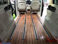 奔驰V260商务车游艇木地板改装,欧卡改装网,汽车改装