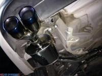 大众新速腾升级AOOAS中尾段四出排气,欧卡改装网,汽车改装