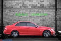 奔驰C63两门改装Revozport碳纤侧裙,欧卡改装网,汽车改装