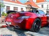 奔驰SLS原车碳纤尾翼 换电动油漆尾翼,欧卡改装网,汽车改装