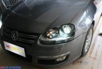 广州大众速腾改灯到炫酷       速腾前大灯升级改装,欧卡改装网,汽车改装