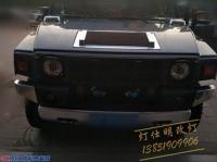 南京悍马H2改灯升级海拉5双光透镜LED雾灯透镜模组,欧卡改装网,汽车改装