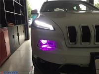JEEP自由光灯光升级,欧卡改装网,汽车改装