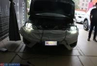 为行车安全—本田飞度升级双光透镜氙气大灯,欧卡改装网,汽车改装