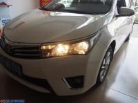 丰田卡罗拉大灯氙气灯升级GTR透镜白色天使眼,欧卡改装网,汽车改装