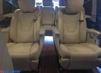奔驰V260L中排座椅改电动中排过道加宽过人改装,欧卡改装网,汽车改装