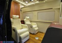 奔驰斯宾特升级航空座椅全隔断吧台折叠收纳椅升级定制,欧卡改装网,汽车改装