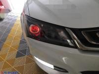 吉利帝豪近光改装LED透镜加七彩恶魔眼,远光改装F+激光透镜豪车配置,欧卡改装网,汽车改装