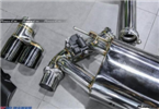 宝马320改装Repsoe中尾段阀门双边双出排气管,欧卡改装网