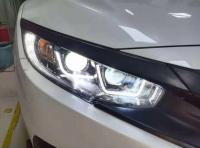 本田思域改装LED四透镜,欧卡改装网,汽车改装