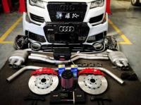 陕西奥迪A7改装RS7包围+AP刹车套装+ECU升级,欧卡改装网,汽车改装