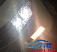 南京丰田陆地巡洋舰灯光改装米石LED双光透镜作业,欧卡改装网,汽车改装
