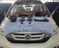 佛山本田CRV音响改装JBL音响套装,欧卡改装网,汽车改装