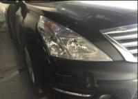 广州日产天籁车灯改装海拉5+镀膜雨刮案例,欧卡改装网,汽车改装