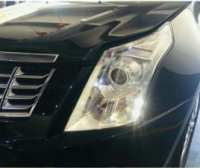 广州凯迪拉克SRX灯光改装高功率版LED双光透镜作业,欧卡改装网,汽车改装