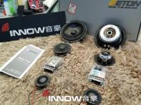 上海丰田汉兰达音响改装德国伊顿mas160三分频套装,欧卡改装网