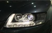广州奥迪A6L大灯改装海拉五双光透镜案例,欧卡改装网,汽车改装