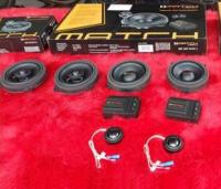 厦门宝马525音响改装德国MATCH音响,欧卡改装网,汽车改装