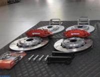 [奥迪刹车改装]奥迪A5升英国AP9040大六和后轮加大盘,欧卡改装网,汽车改装