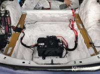 佛山奥迪A4隔音改装大白鲨隔音案例,欧卡改装网,汽车改装