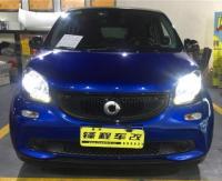 深圳奔驰smart车灯改装海拉5双光透镜,欧卡改装网,汽车改装