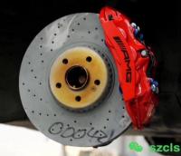 深圳奔驰C级W205刹车改装原厂AMG六活塞刹车卡钳套装,欧卡改装网,汽车改装