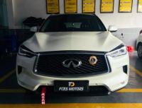 广州英菲尼迪QX50车灯改装锋程定制版LED双光透镜案例,欧卡改装网,汽车改装