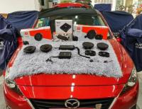 佛山马自达昂克赛拉汽车音响改装JBL案例,欧卡改装网,汽车改装