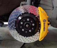 [丰田刹车改装]雷克萨斯RX300升级Brembo V6前六后四,欧卡改装网,汽车改装