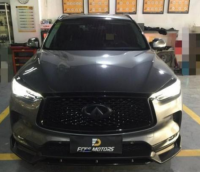 广州英菲尼迪QX50改装激光大灯+海外版尾灯+后视镜转向灯案例,欧卡改装网,汽车改装